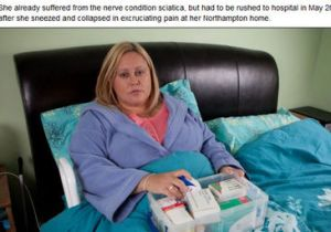 Quedó paralizada de por vida por un estornudo