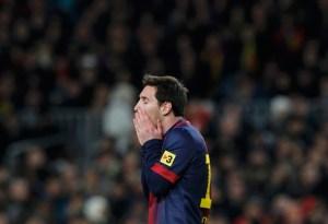 Messi, apagado como pocas veces