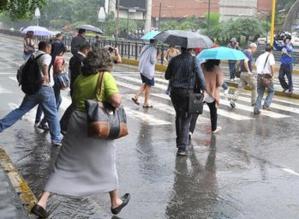 Inameh estima lluvias este jueves hacia el Sur, Oriente, Andes y Zulia