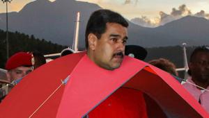 EXCLUSIVO: Nicolás llegó al campamento ñángara y se volvió pueblo… perdonen, se volvió carpa (Fotomontaje)