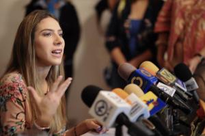 Fabiana Rosales condenó que el régimen de Maduro mantenga a 35 mujeres secuestradas