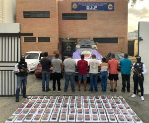 """La PNB detuvo a dos Cicpc y a otros tres sujetos por el traslado de presunta """"cocaína"""""""