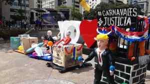 """Los """"Carnavales del hambre"""" en Altamira fueron protagonizados por Maduro & Co. (Fotos y Videos)"""