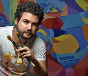 Leonardo Moleiro un Venezolano que cautiva a Los Ángeles con su arte abstracto
