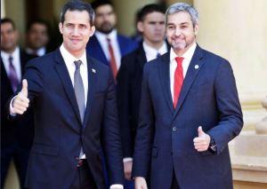 Guaidó agradeció al presidente de Paraguay por poner a Maduro en su sitio