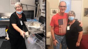 En plena pandemia, lavó platos en un centro de atención para visitar a su esposo con Alzheimer