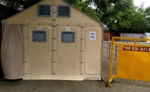 Instalaron carpas en Táchira para atender a contagiados tras desbordamiento hospitalario (Video)