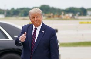 El mensaje de Trump tras llegar a Cleveland para el debate presidencial contra Biden