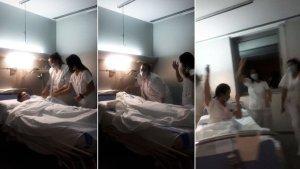 Polémica por un video en el que trabajadoras de un hospital de España se burlan de los muertos