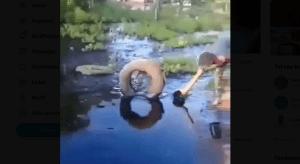 Nuevo derrame petrolero en Zulia afecta al menos 100 familias (video)