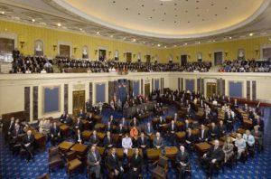 Senado de EEUU aprobó con el voto de Harris debatir el paquete de estímulo económico #5Mar (VIDEO)