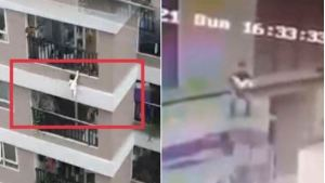 El heroico momento en que un hombre rescató a una bebé que cayó de un doceavo piso