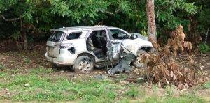 DESTROZADA: Así quedó una camioneta del frente 10 de las Farc tras ataques en Apure (FOTO)