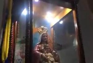José Gregorio Hernández apareció reflejado sobre la imagen de la Virgen de Coromoto en Guanare (VIDEO)
