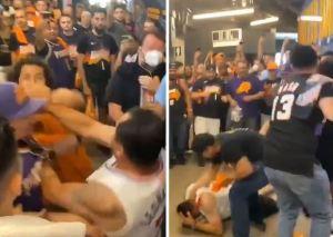 Indignación en la NBA: Fanáticos de Clippers y Suns desataron una batalla campal (Video)