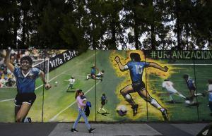 """Argentinos celebraron 35 años del """"gol del siglo"""" de Maradona a Inglaterra"""