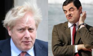 ¿Ese que no sabe abrir el paraguas es Boris Johnson el otro yo de Mr. Bean?