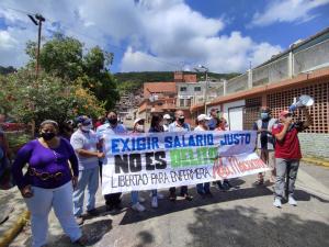 EN IMÁGENES: Sector salud de Vargas exigió al régimen la liberación de la enfermera Ada Macuare #30Jul