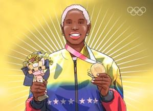 Inspirador: La historia olímpica de Yulimar Rojas en caricaturas (IMÁGENES)