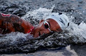 La brasileña Ana Marcela Cunha, campeona olímpica de natación en aguas abiertas