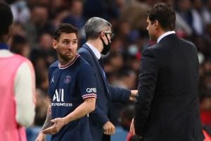 Pochettino reveló qué le dijo Messi tras el cambio de la polémica en el PSG