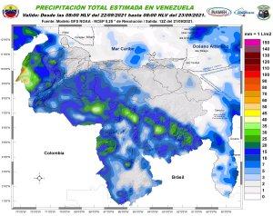 Nubosidad, lluvias, ráfagas de viento y descargas eléctricas: El pronóstico de Inameh para este #22Sep