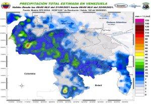 Nubosidad, lluvias, ráfagas de viento y descargas eléctricas: El pronóstico de Inameh para este #21Sep