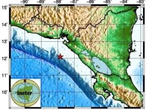 Fuerte sismo sacude a la costa oeste de Nicaragua
