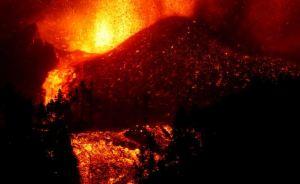 Impresionante VIDEO tomado por dron muestra cómo avanza la lava en La Palma