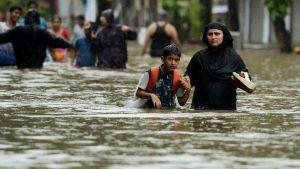 Aumentan a 24 los muertos por las fuertes lluvias en el sur de India