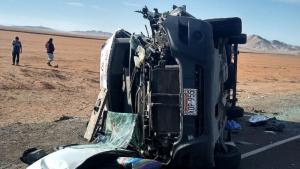 Al menos siete muertos en un triple choque en una carretera de Perú